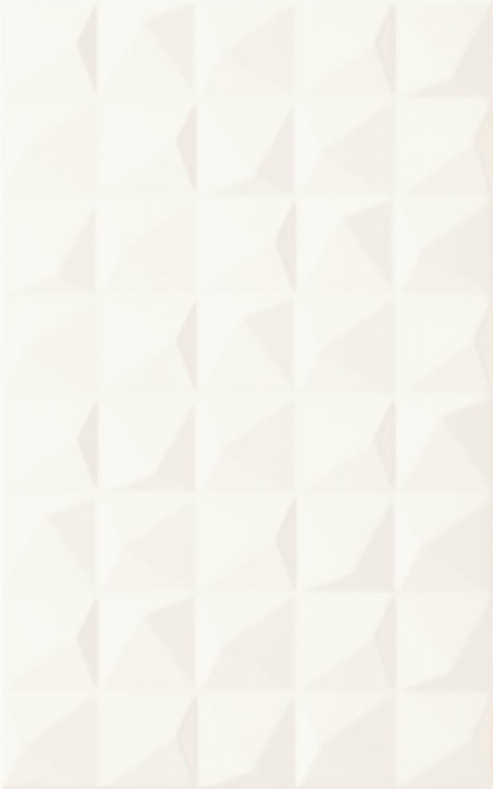 Kwadro Melby Bianco Sciana Struktura 25x40 Gat1